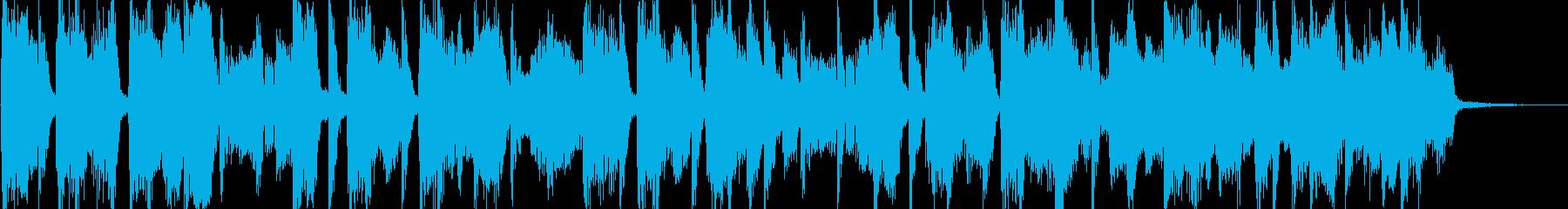 R&B風の短いポップジングルの再生済みの波形