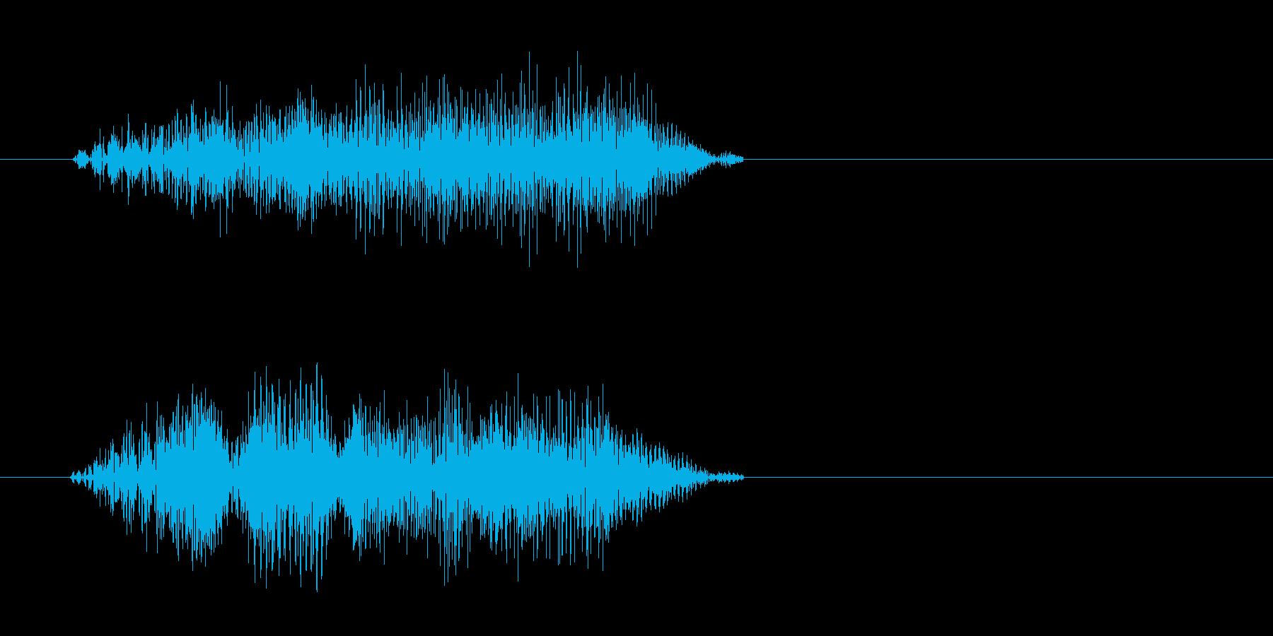 チュイッ(シンプルでレトロな選択音)の再生済みの波形