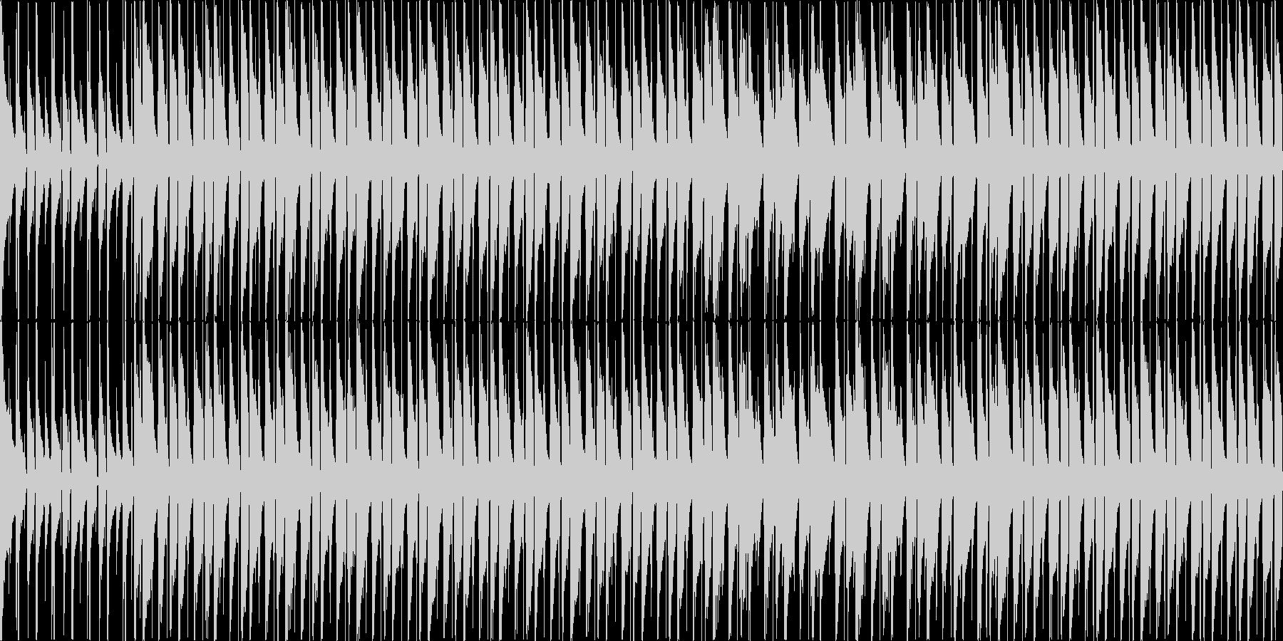 【ループ・メロ抜き】ウクレレの軽快で前向の未再生の波形
