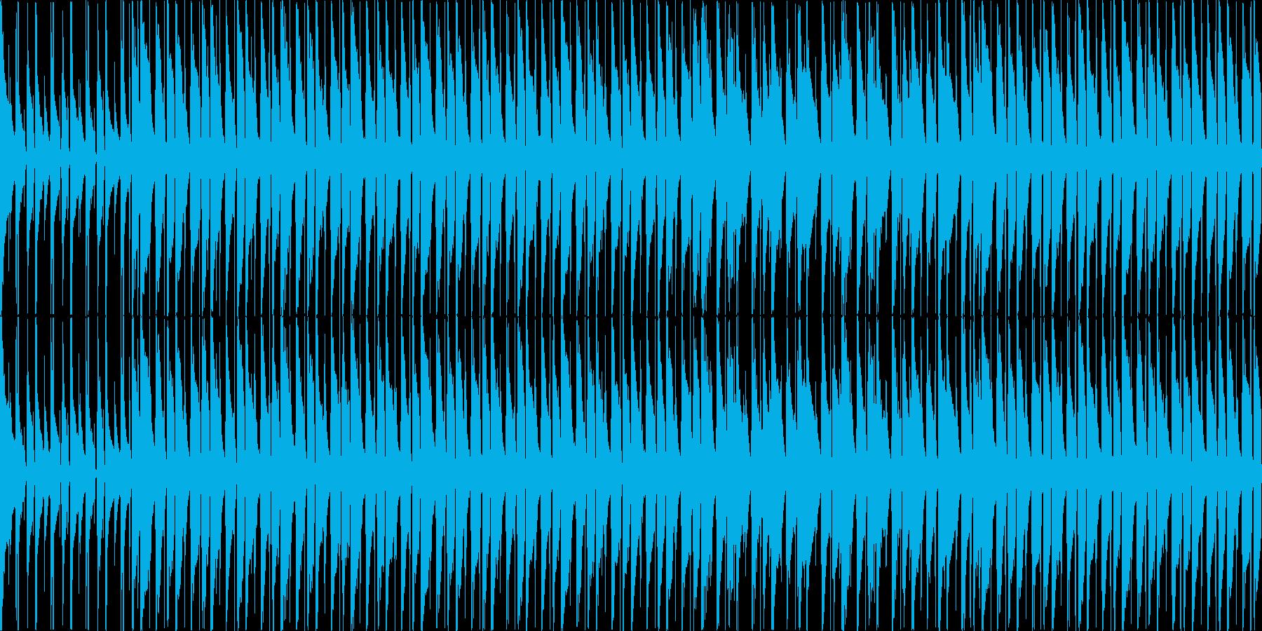 【ループ・メロ抜き】ウクレレの軽快で前向の再生済みの波形
