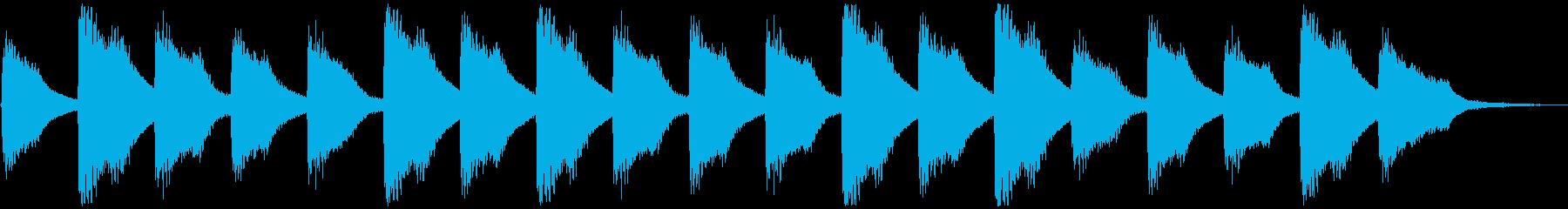 子供と爽やかピアノ、5秒CM、ver.Aの再生済みの波形