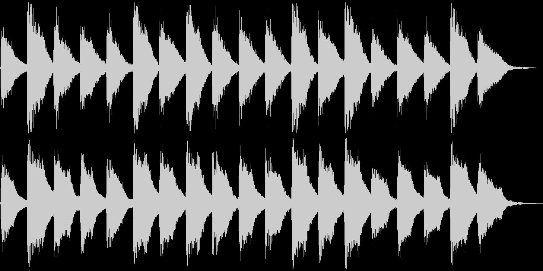 子供と爽やかピアノ、5秒CM、ver.Aの未再生の波形