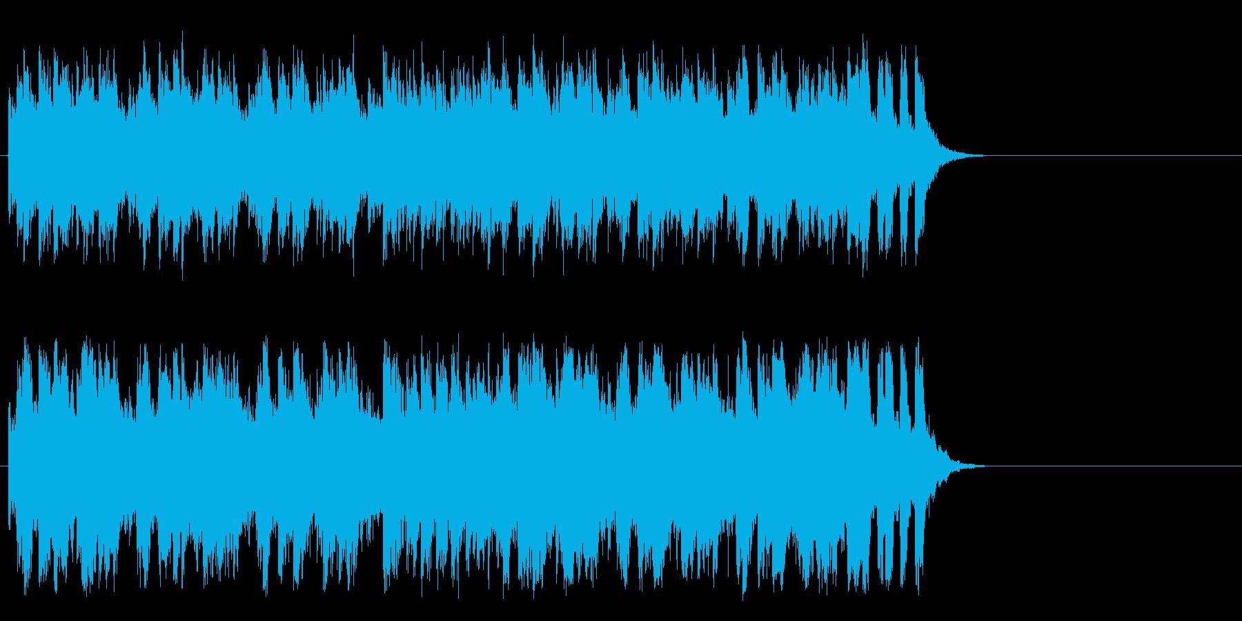 明るく爽やかなポップス(サビ)の再生済みの波形