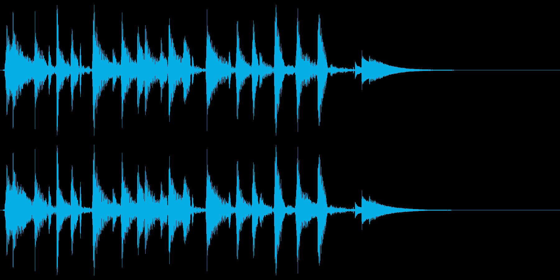 ウクレレハワイアンフレーズ2の再生済みの波形
