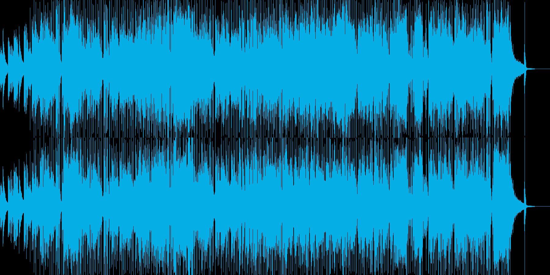 オシャレなギターソロのインストの再生済みの波形