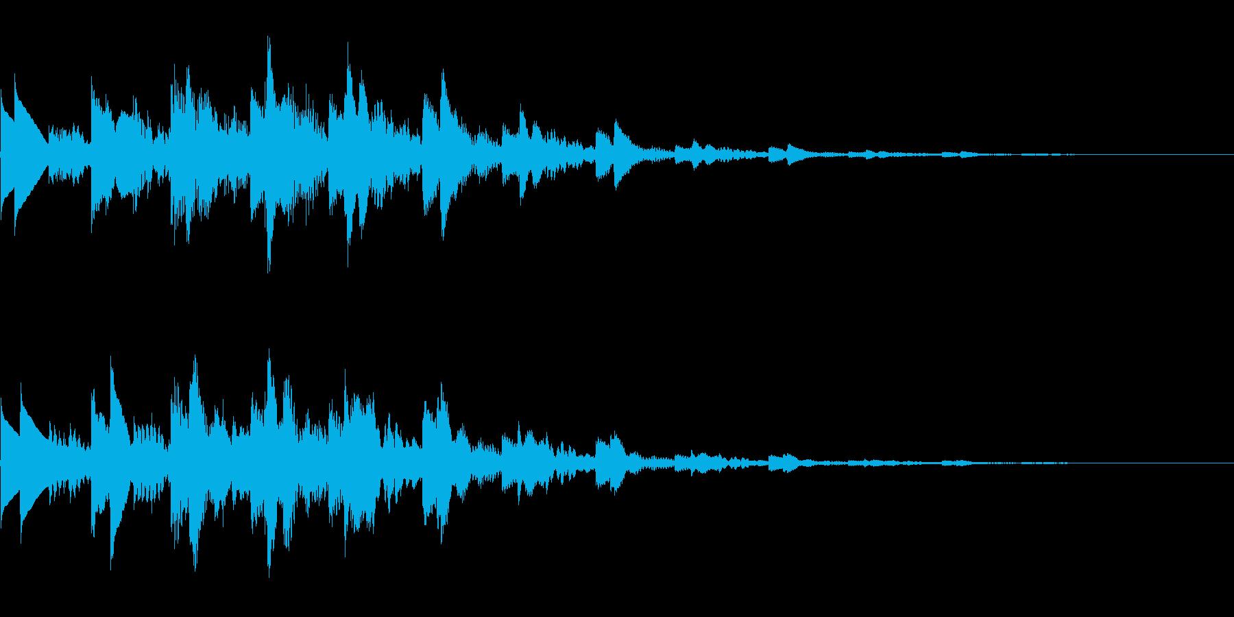 キラキラした音です。決定、回復などにの再生済みの波形