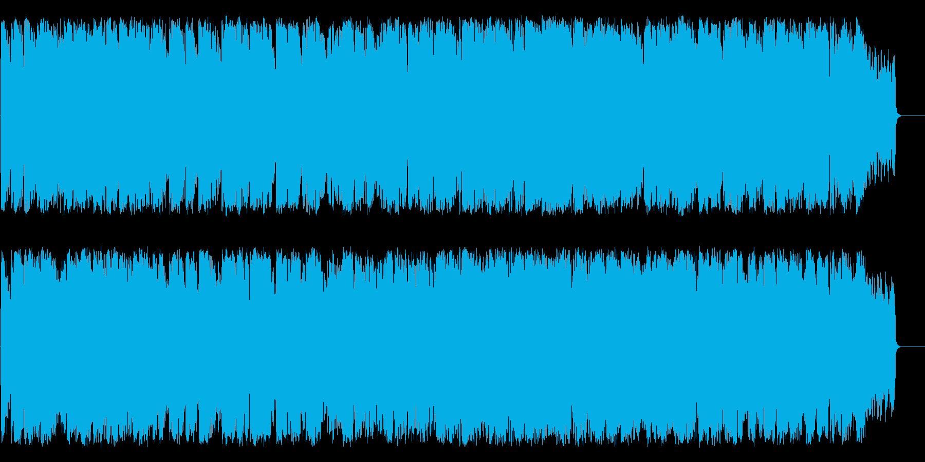 淡々として不思議な雰囲気のムード音楽の再生済みの波形