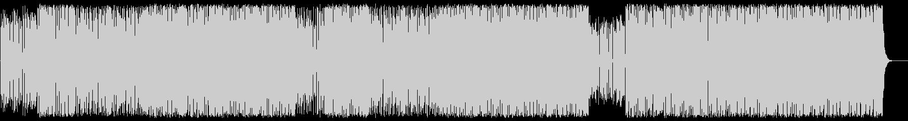 エッジの効いたシンセサイザーの曲の未再生の波形