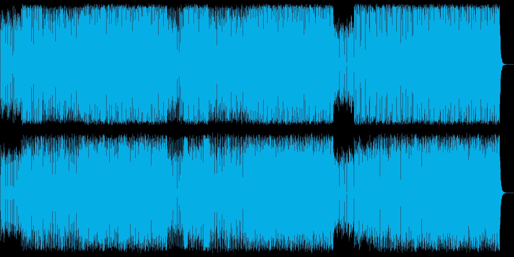 エッジの効いたシンセサイザーの曲の再生済みの波形