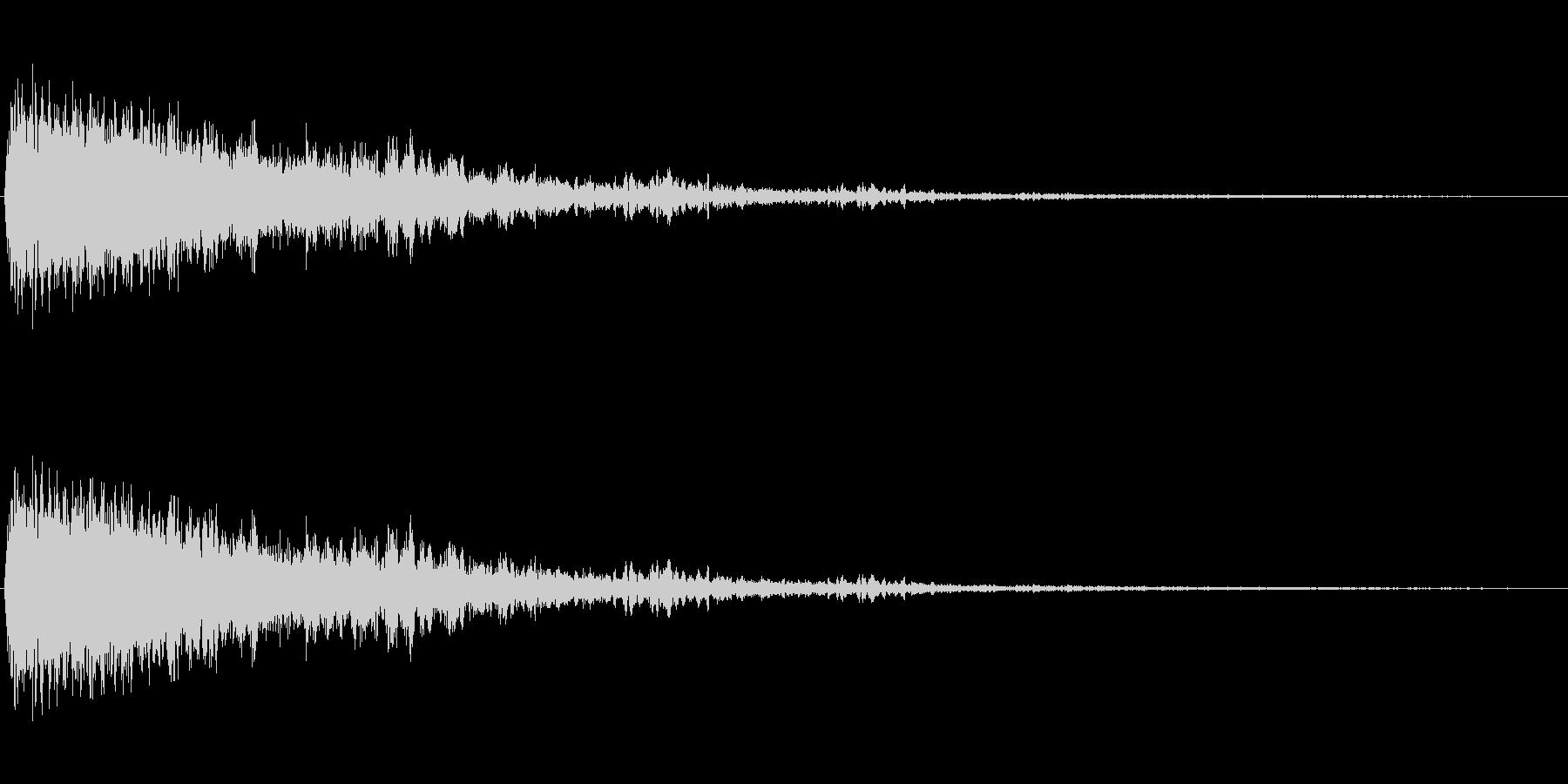 ピュオーン(シンプルで近未来的な効果音)の未再生の波形