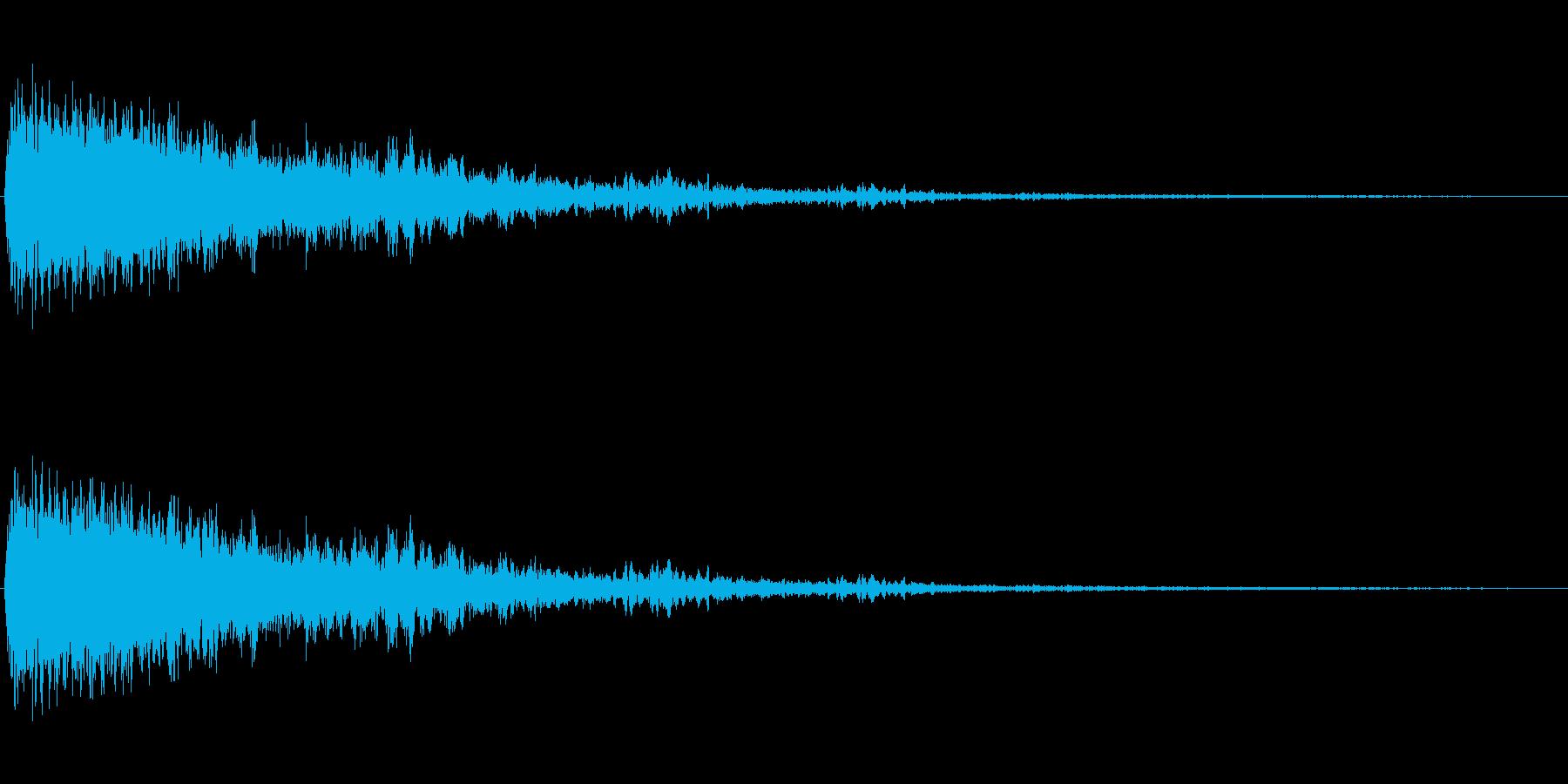 ピュオーン(シンプルで近未来的な効果音)の再生済みの波形