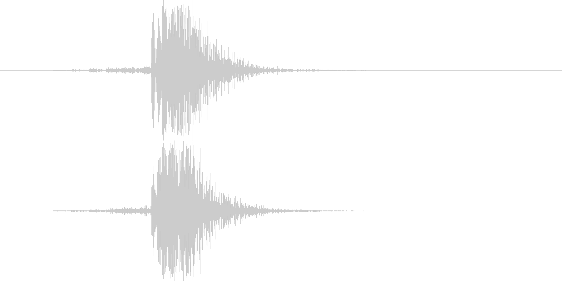 ブレーカーの落ちる(切る)音の未再生の波形