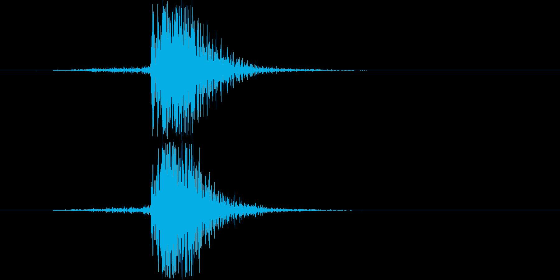 ブレーカーの落ちる(切る)音の再生済みの波形