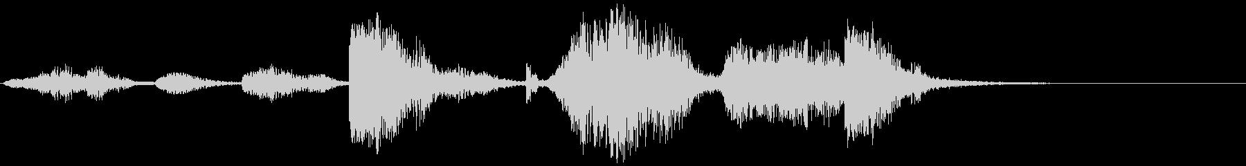 自然の音シリーズ 雷の未再生の波形