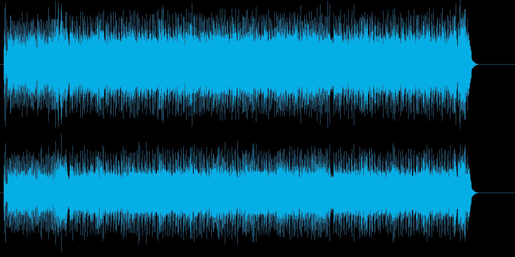 スポーティなオープニング向けギターの再生済みの波形