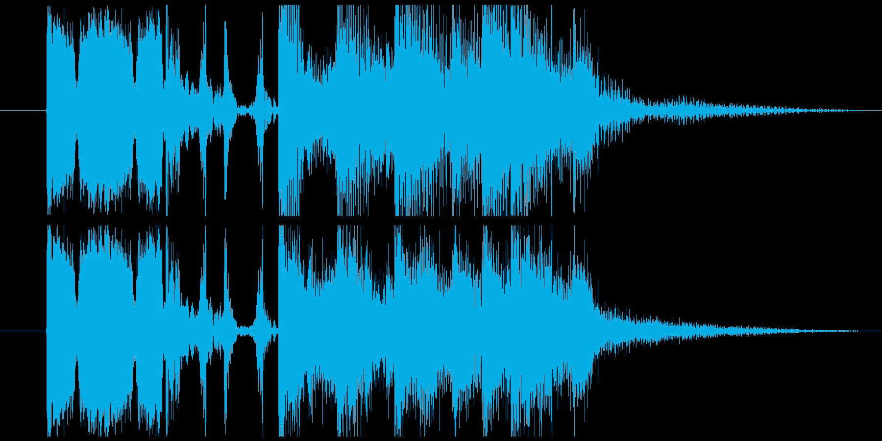 明るめの短いジングル、アイキャッチの再生済みの波形