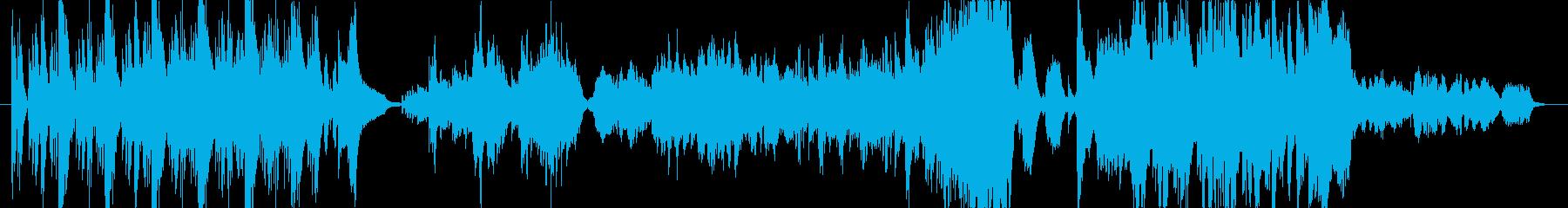 山の神々をイメージした和曲の再生済みの波形