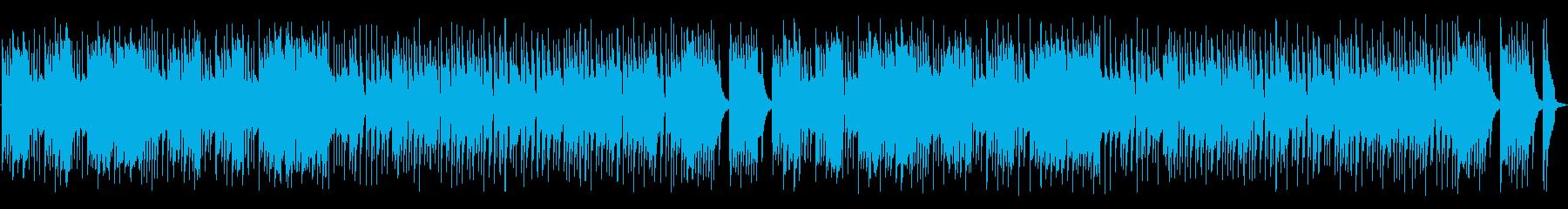 焦燥感のあるストリングスと木琴の曲の再生済みの波形