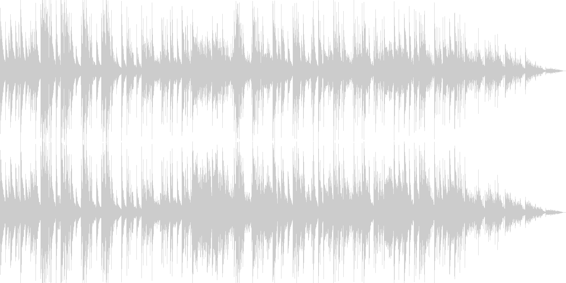 ゆったりしたギターなどのサウンドの未再生の波形