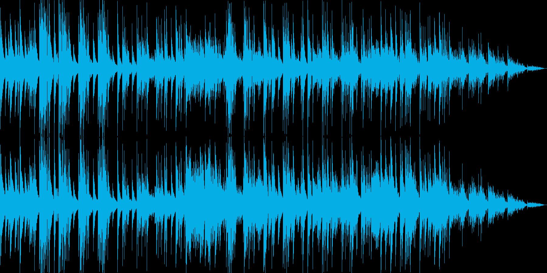 ゆったりしたギターなどのサウンドの再生済みの波形