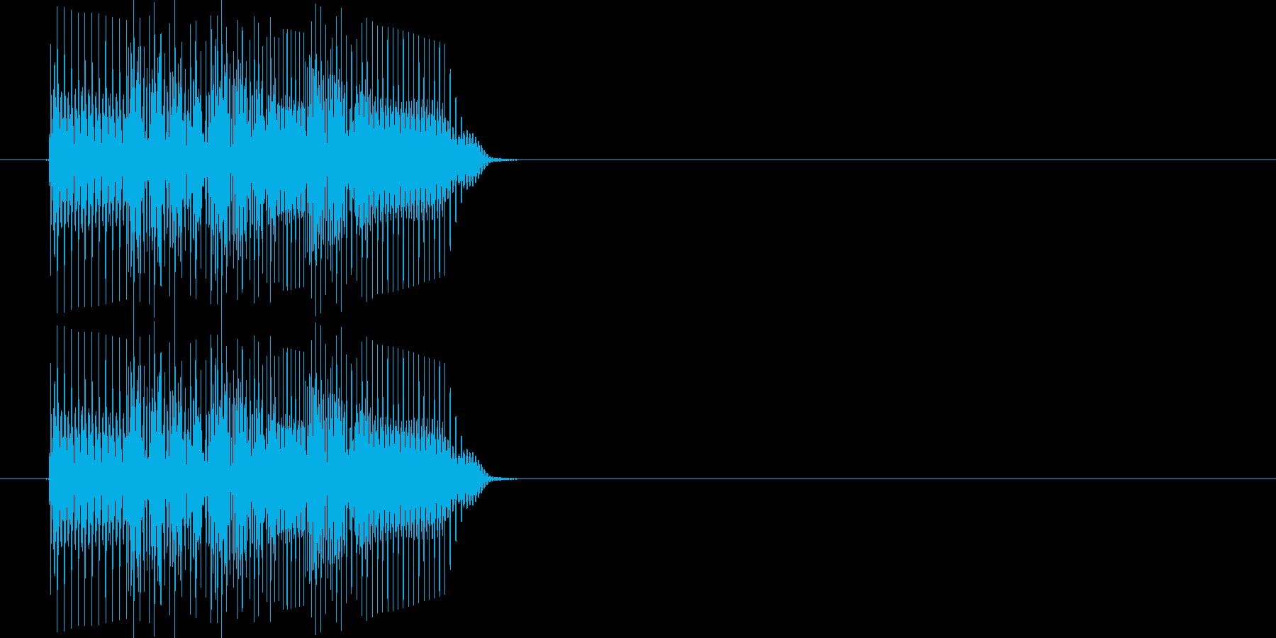 ティロリロン(電子音)の再生済みの波形