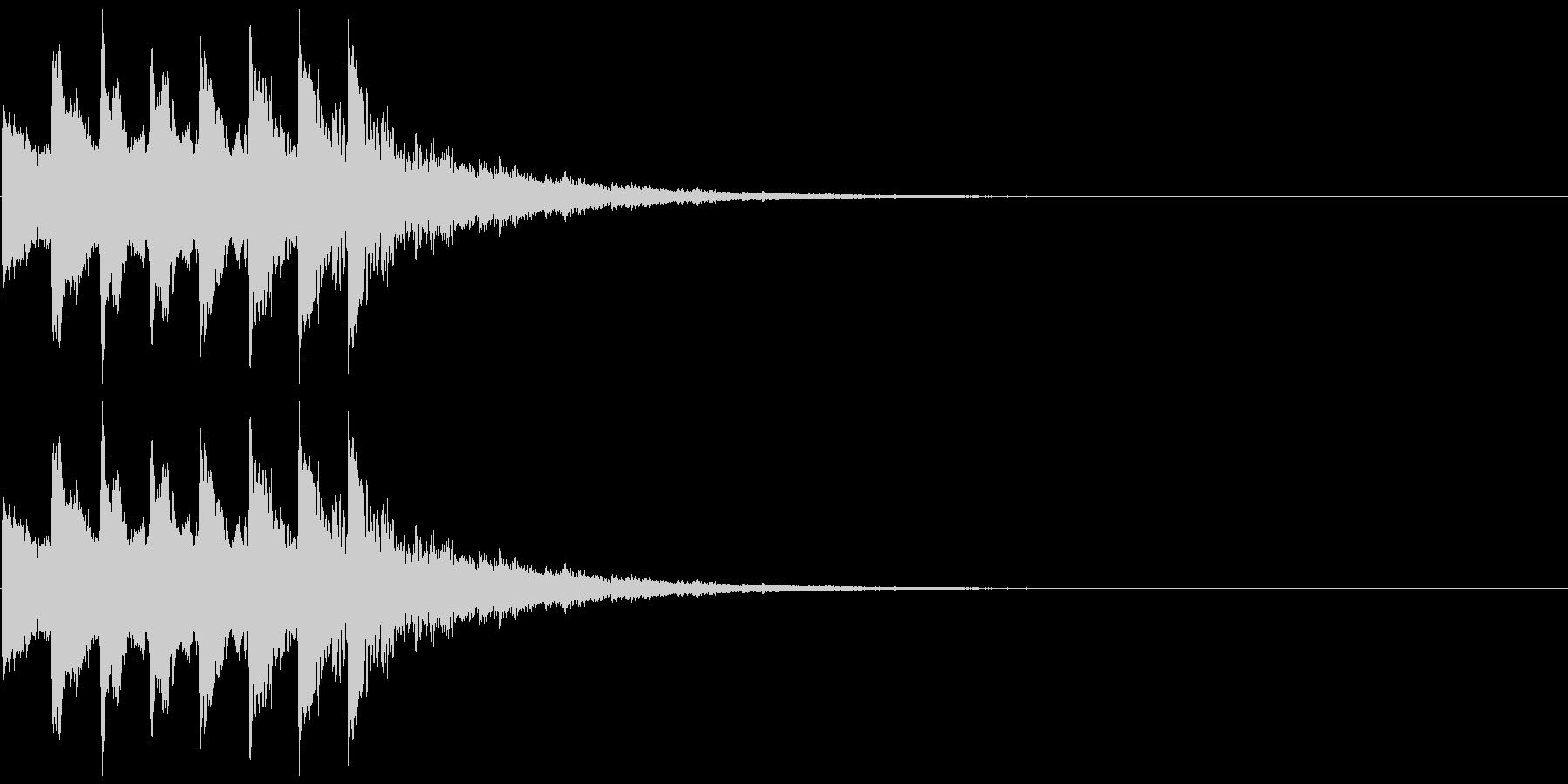アニメにありそうなひらめき音の未再生の波形