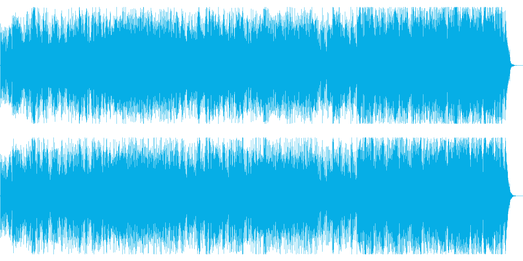 青く切ない想い出が疾走するギターポップの再生済みの波形