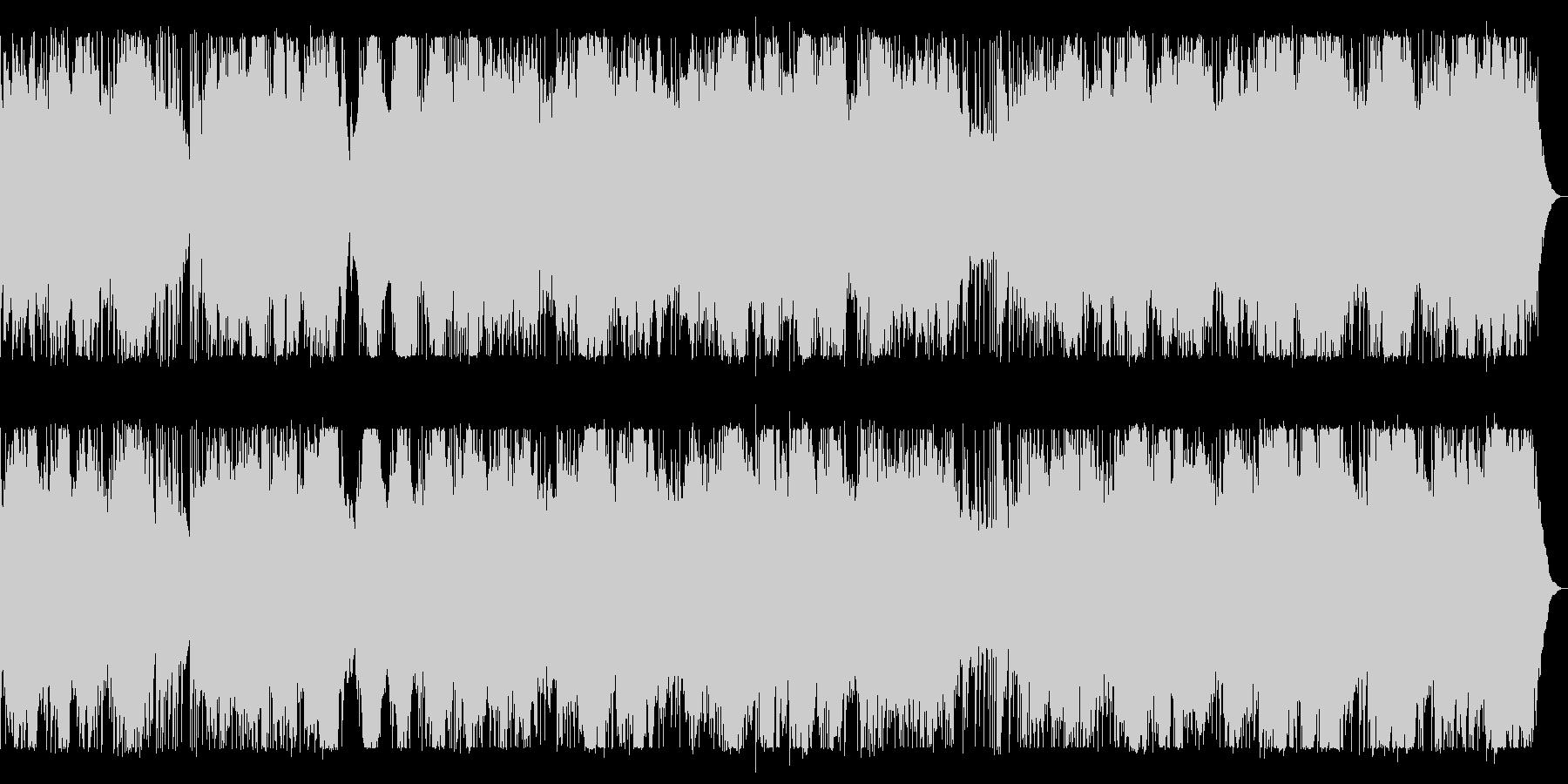 ドラム、ベース、シンセのダークなBGMの未再生の波形