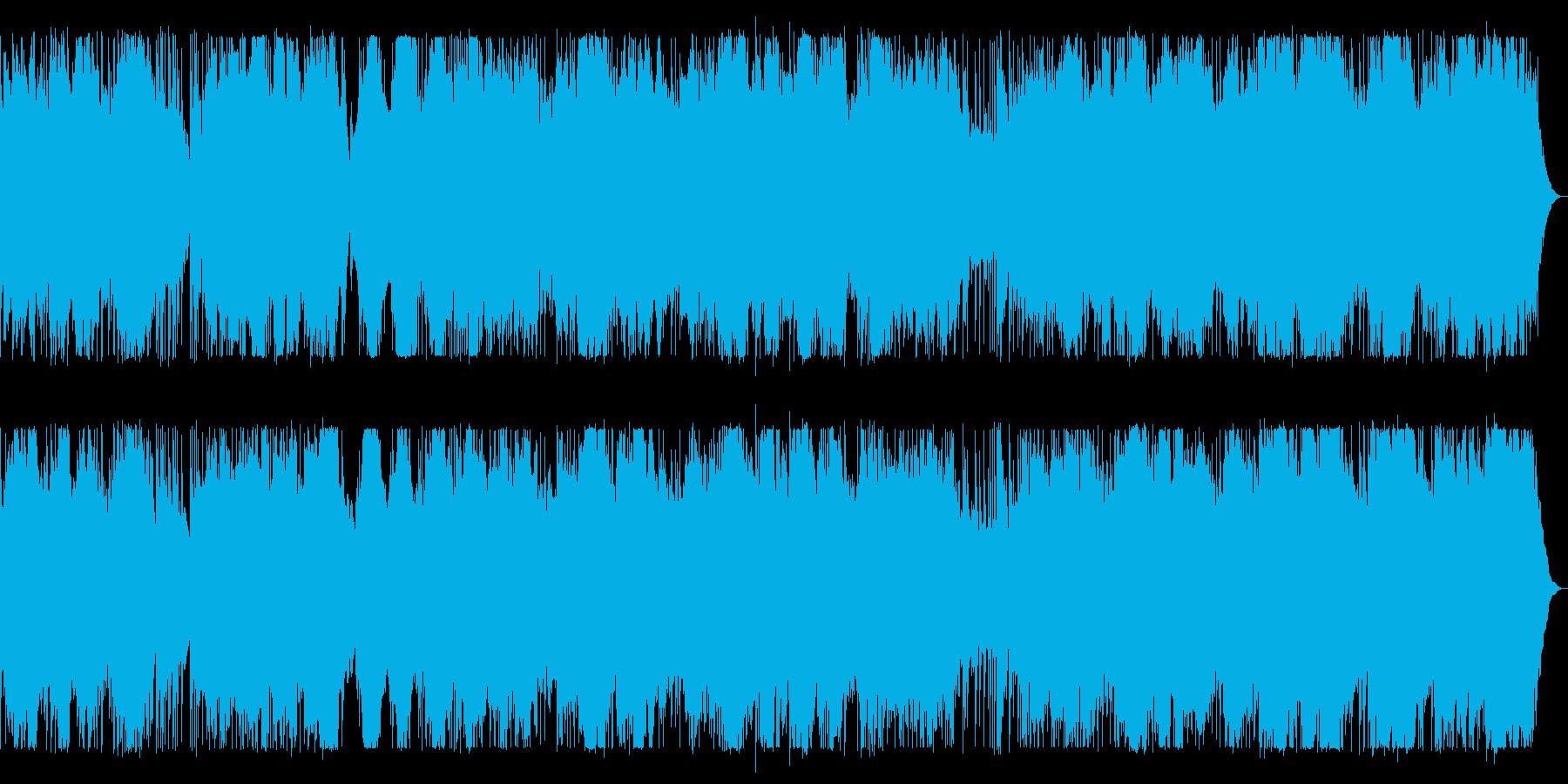 ドラム、ベース、シンセのダークなBGMの再生済みの波形