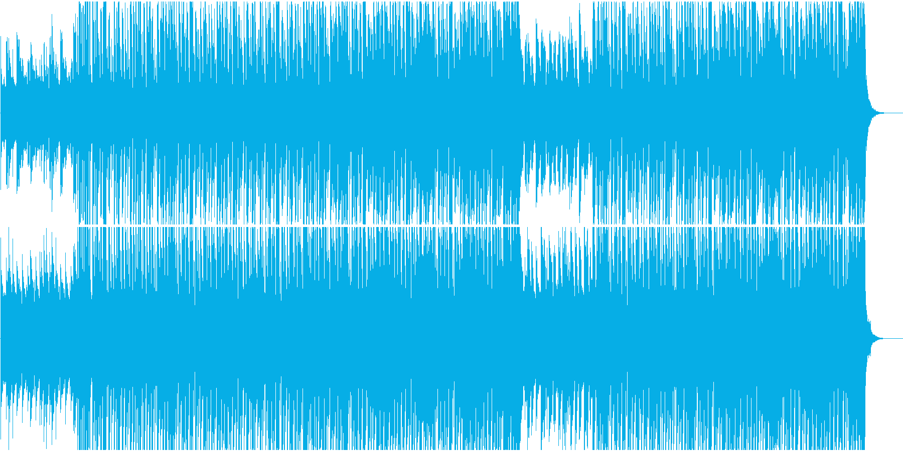 アーバンスタイルヒップホップCM映像向けの再生済みの波形