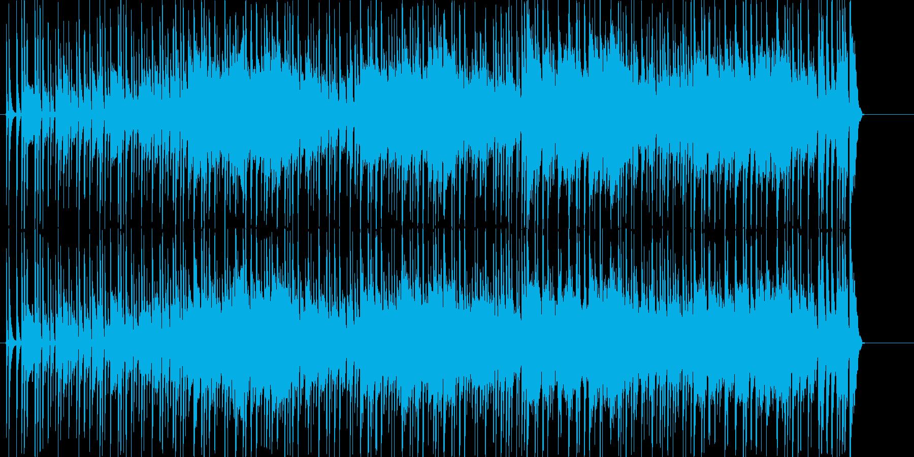 気だるく怪しいムードを演出するファンクの再生済みの波形