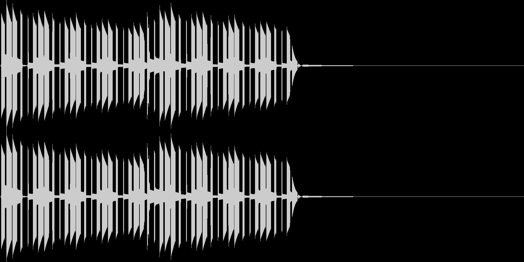 キャンセル、間違い(ブブ)の未再生の波形