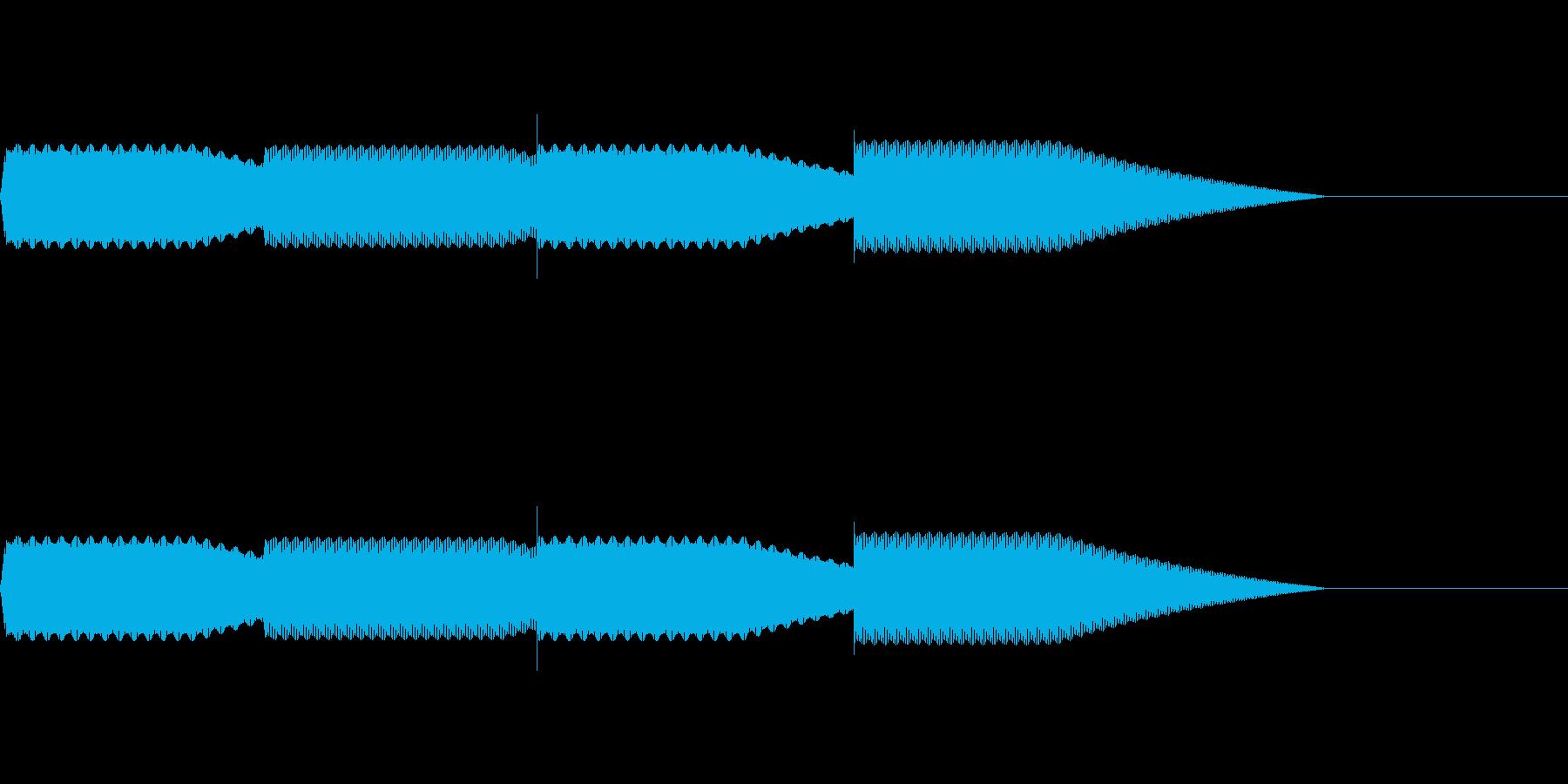 【SE 効果音】効果音その10の再生済みの波形