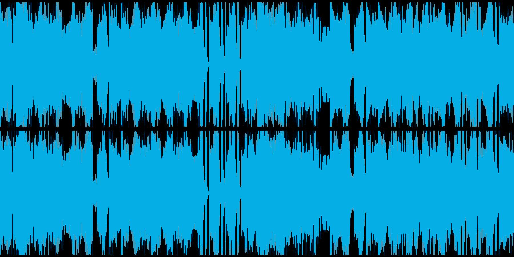 bpm128 Loop仕様の再生済みの波形