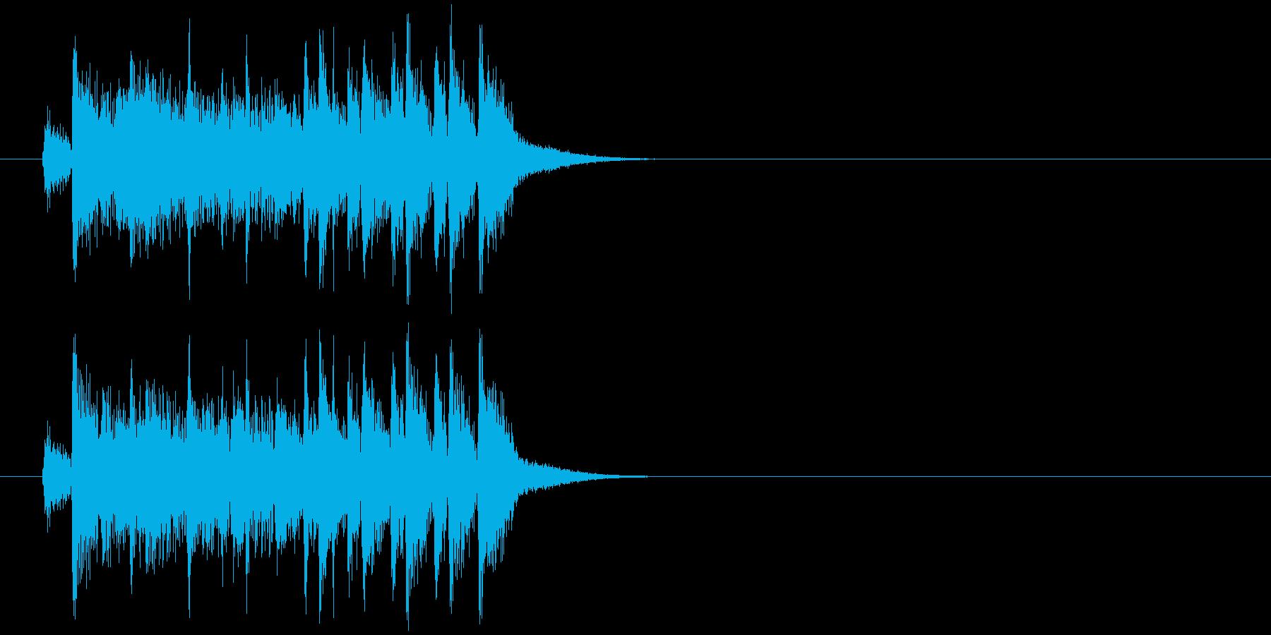 ジングル(コーナーエンド)の再生済みの波形