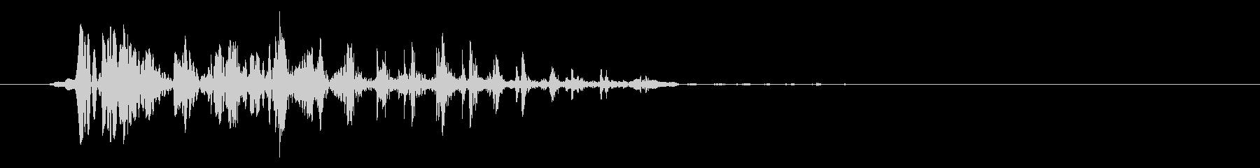 グェッ(アヒルまたは蛙の鳴き声)の未再生の波形