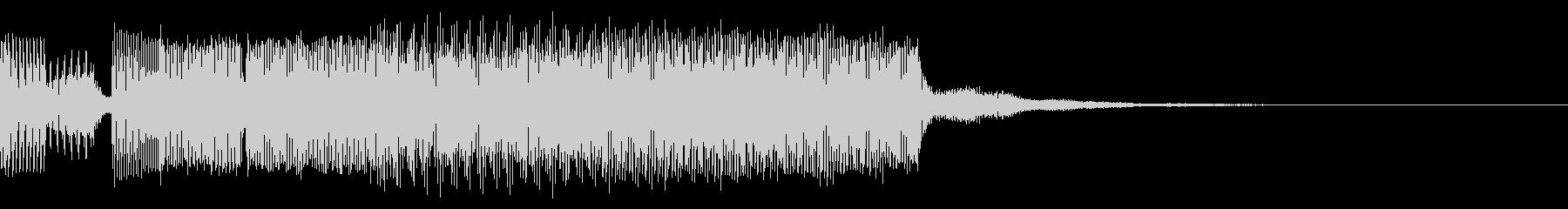 8bit系 勇壮なゲームオーバー音の未再生の波形