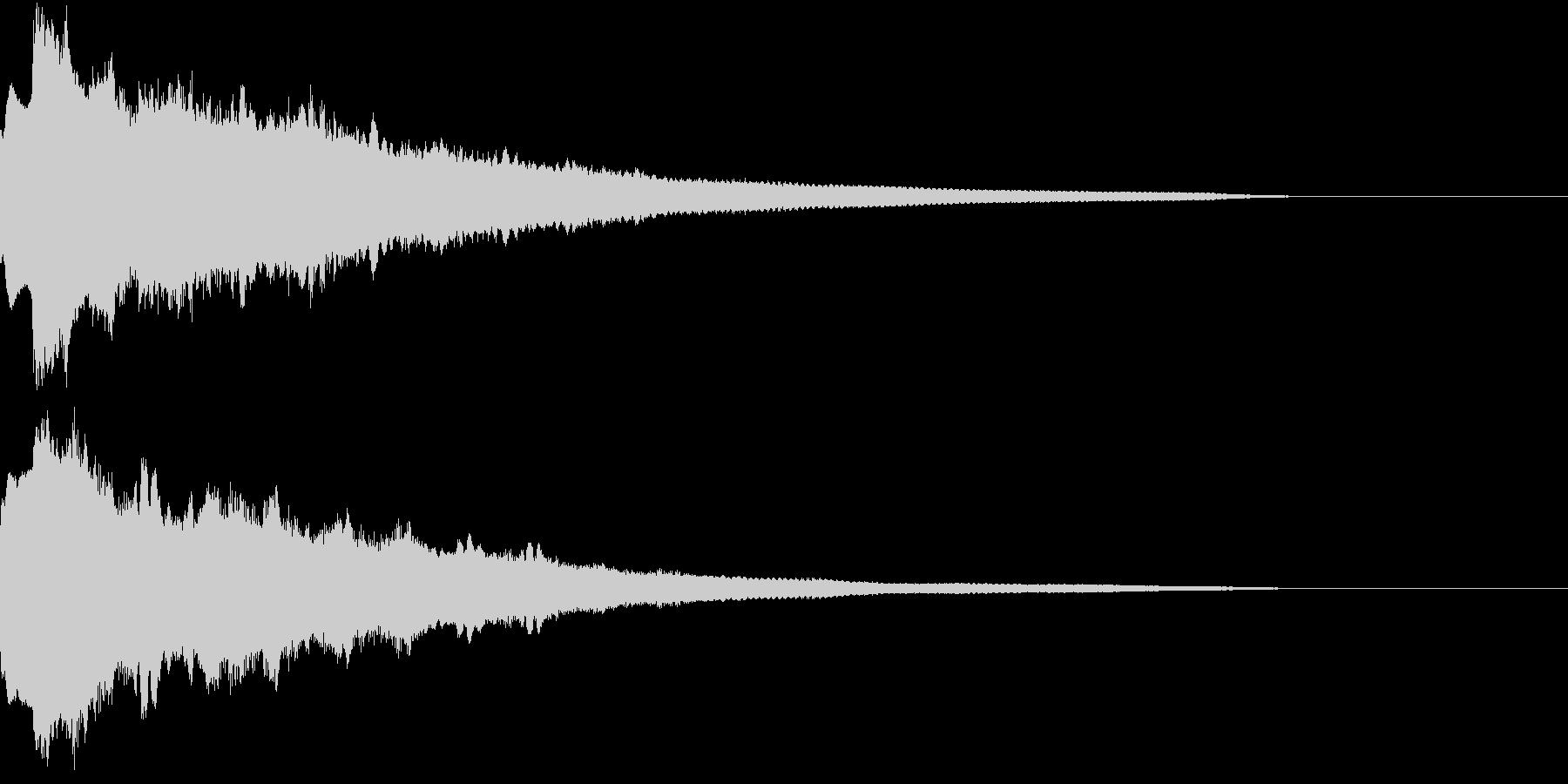クリック キラリン 豪華 決定 06の未再生の波形