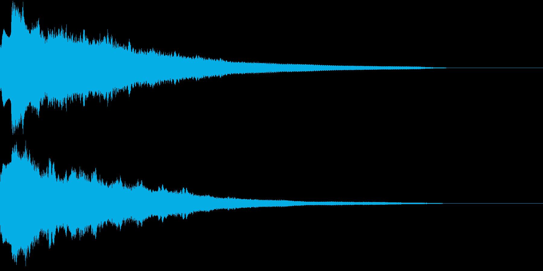 クリック キラリン 豪華 決定 06の再生済みの波形