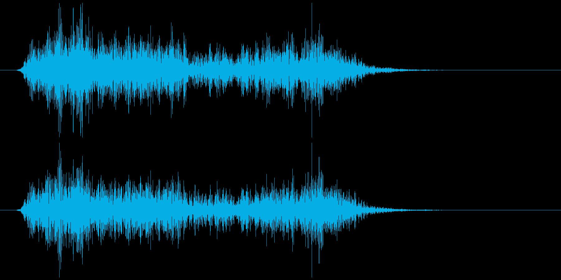 鍋の底 (ふた) が擦れる 長めの再生済みの波形