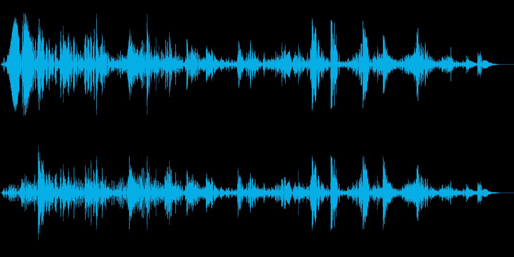 ブクブクブク(水中を潜る音)の再生済みの波形