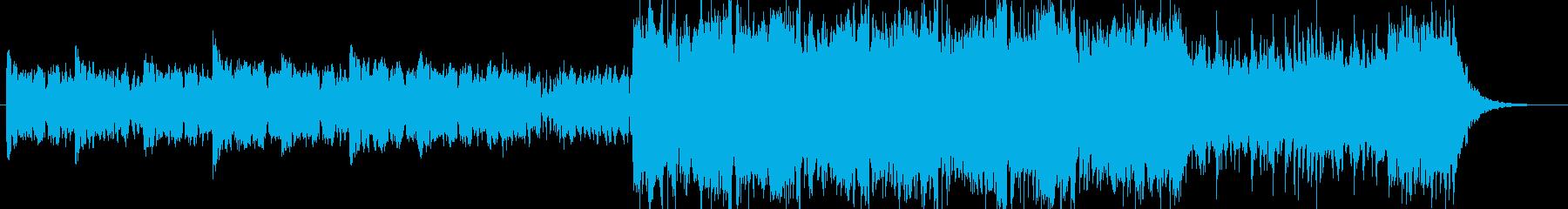 怪しい音の入ったSF感のある曲の再生済みの波形