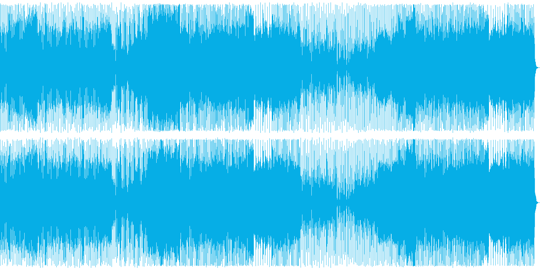 ロックEDM、元気な曲、ゲームOPの再生済みの波形