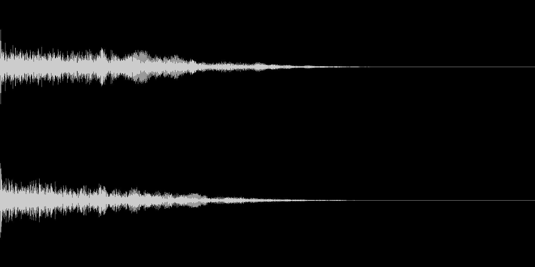 ドーン、バーン(ホラー、ドッキリ)の未再生の波形