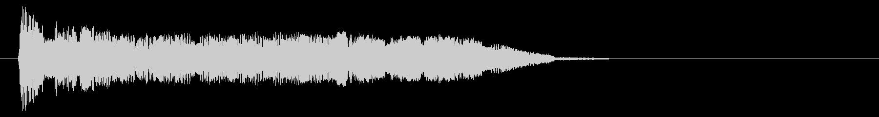 場面転換/チャージ/ポップな上昇系の音の未再生の波形