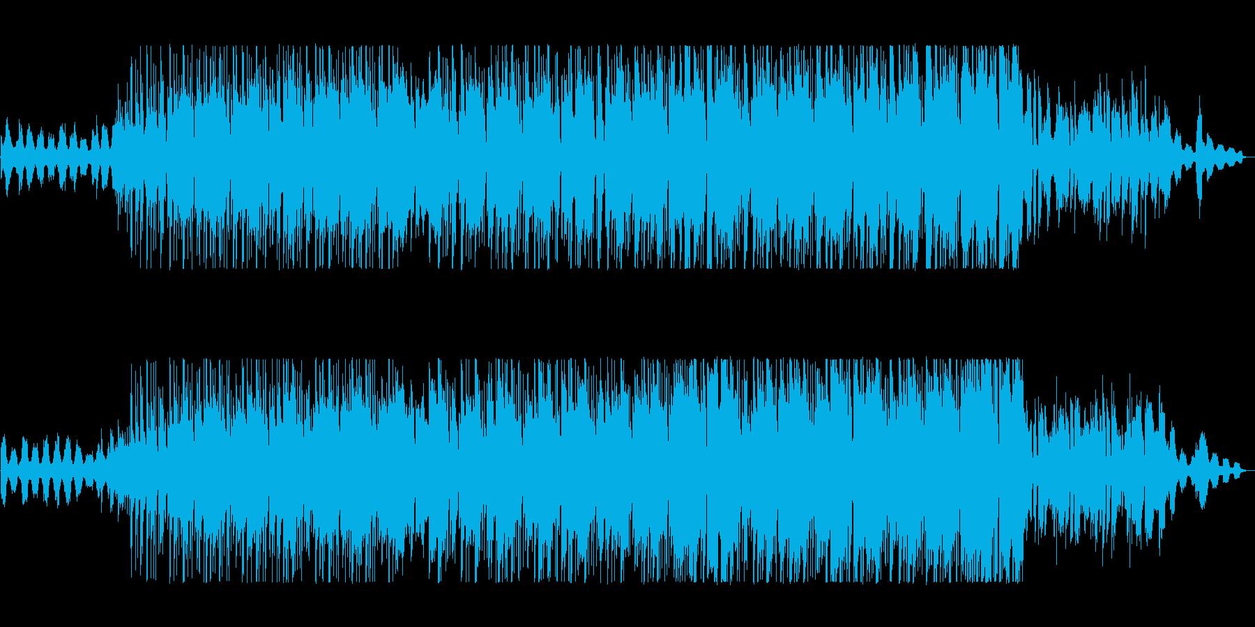 爽やかで軽快な明るくポップな曲の再生済みの波形
