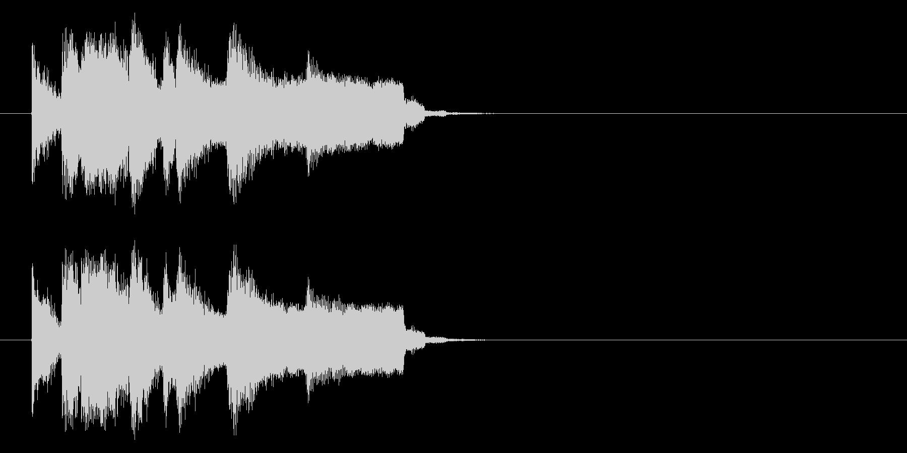 ジャズ系ジングルの未再生の波形