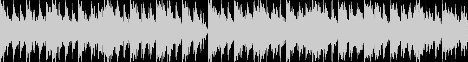ピアノがメインのホラー系テクノの未再生の波形