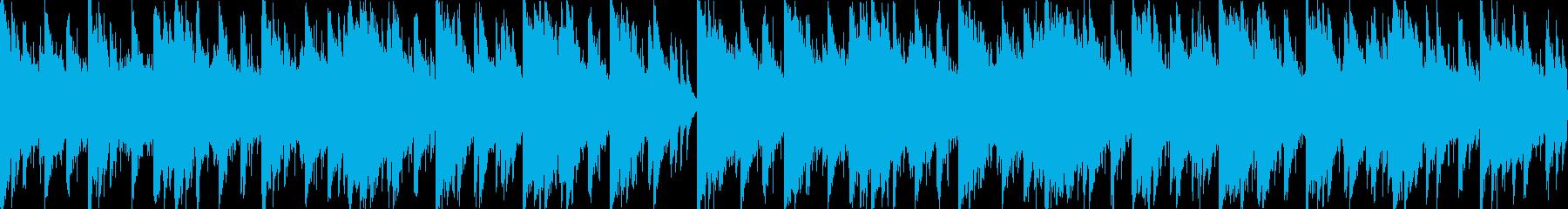 ピアノがメインのホラー系テクノの再生済みの波形