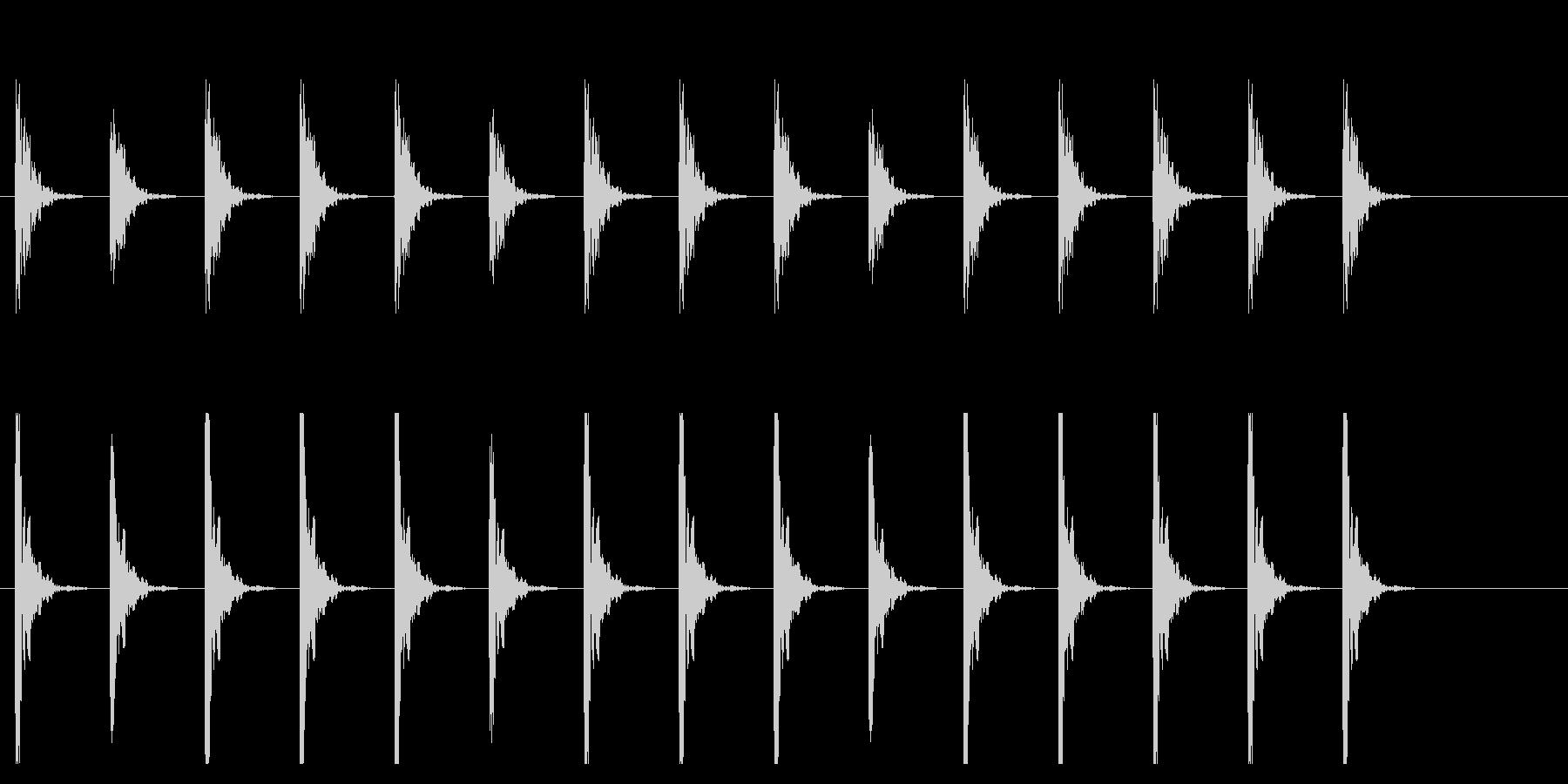 ポクポク1 木魚・シンキングタイム10秒の未再生の波形